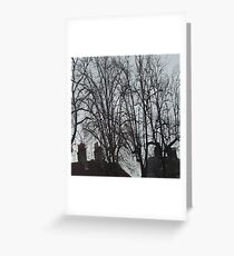 Tall Tree Rooftops Greeting Card