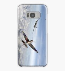 Spitfire attacking Heinkel bomber Samsung Galaxy Case/Skin