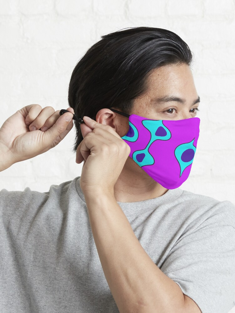 Alternate view of 50's Style Blobs Mask