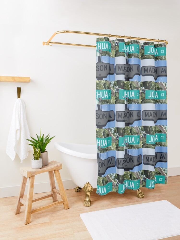 Alternate view of Madison and Joshua  Shower Curtain