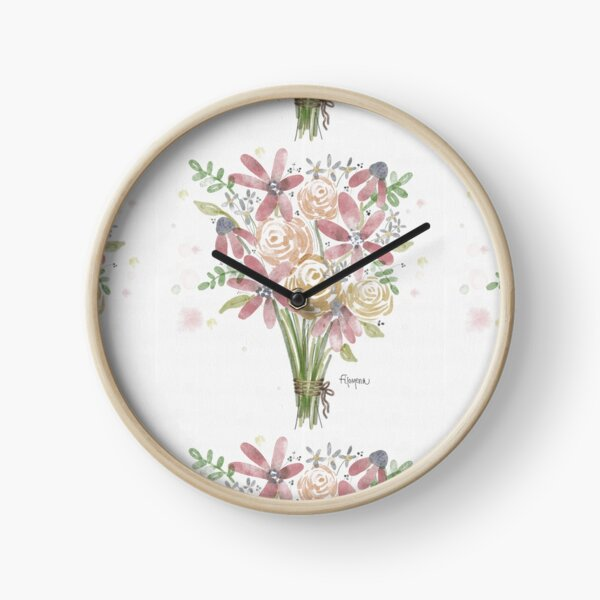 First Bouquet of Spring Clock
