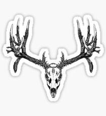 Monster mule deer skull Sticker