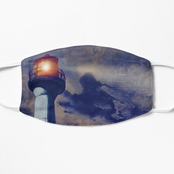 Mayne Island Cloud & Lighthouse (night) Flat Mask