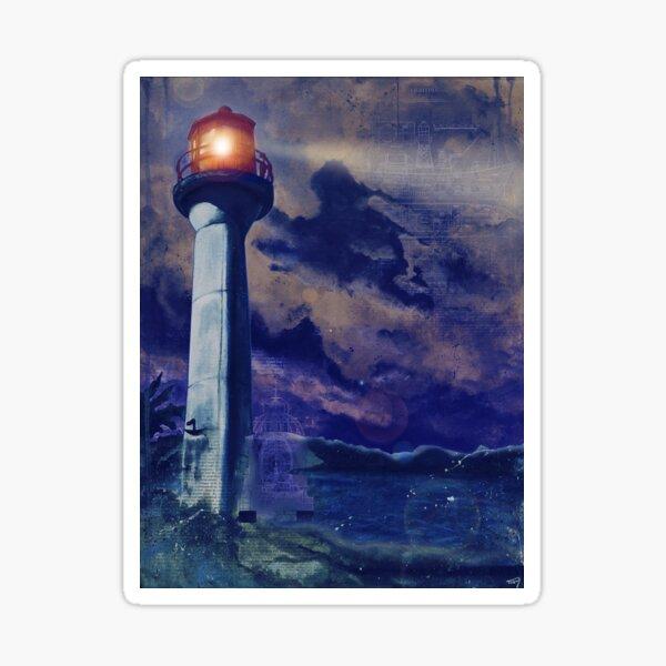 Mayne Island Cloud & Lighthouse (night) Sticker