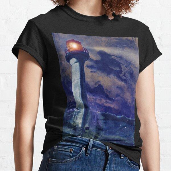 Mayne Island Cloud & Lighthouse (night) Classic T-Shirt