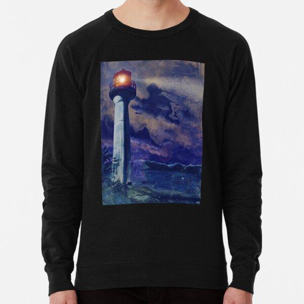 Mayne Island Cloud & Lighthouse (night) Lightweight Sweatshirt