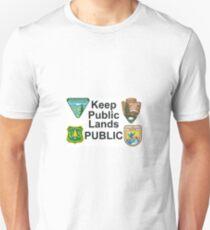 KEEP PUBLIC LANDS PUBLIC Unisex T-Shirt