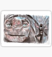 the neverending story film sketch Sticker