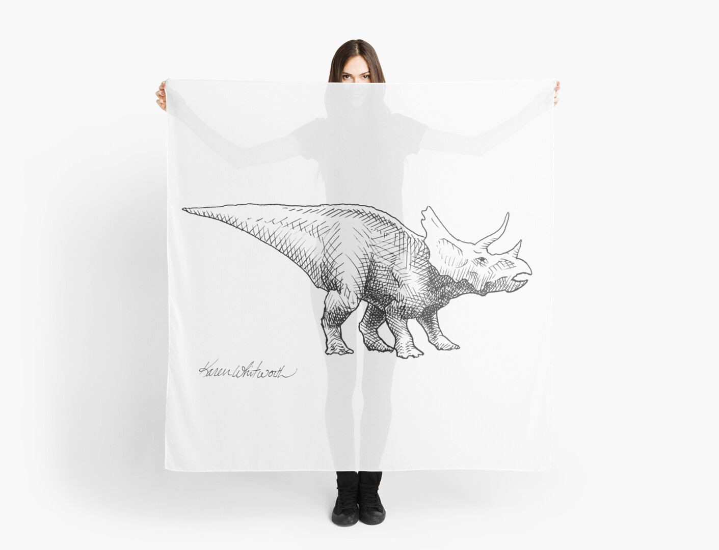 Dinosaur Long Neck Dino Sketch Personalized Tote Bag Tote