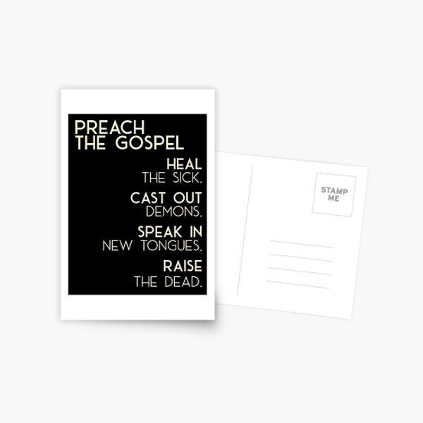 Preach The Gospel Postcard