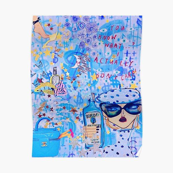 Sich blau fühlen Poster