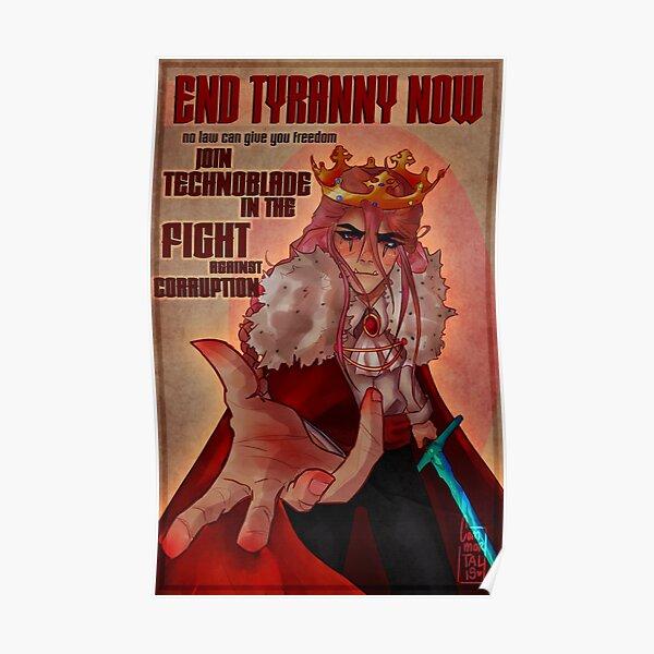 technoblade anarchy propaganda fanart Poster