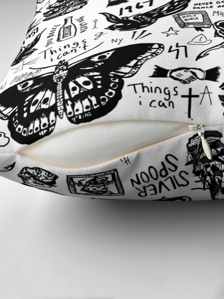Alternate view of Harry - All Tattoos Throw Pillow
