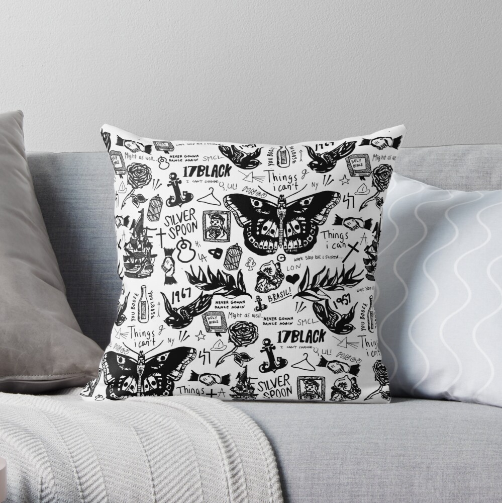 Harry - All Tattoos Throw Pillow