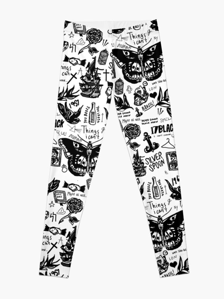 Alternate view of Harry - All Tattoos Leggings