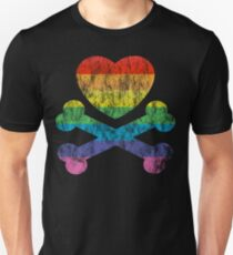 heart and crossbones Unisex T-Shirt