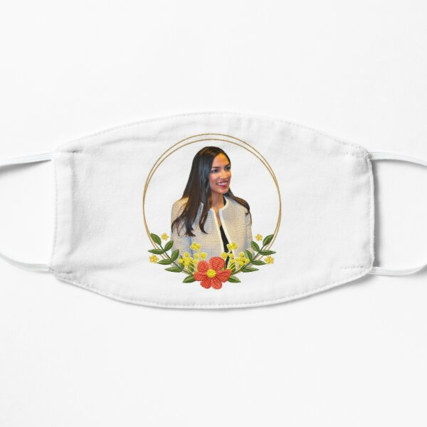AOC Floral Embroidery Circle Flat Mask