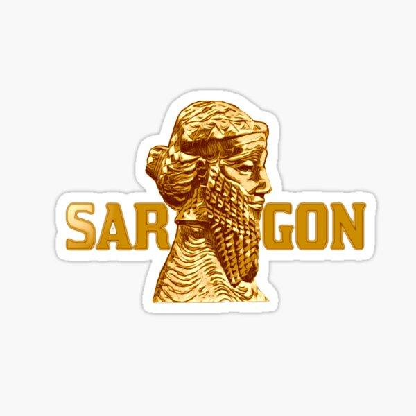 Assyrian Golden King Sargon Sticker