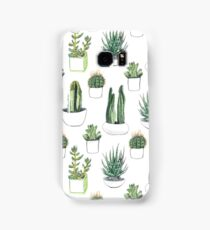 watercolour cacti and succulents Samsung Galaxy Case/Skin