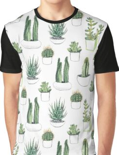 watercolour cacti and succulents Graphic T-Shirt