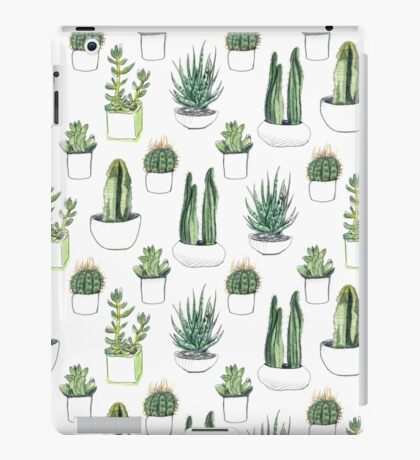 watercolour cacti and succulents iPad Case/Skin