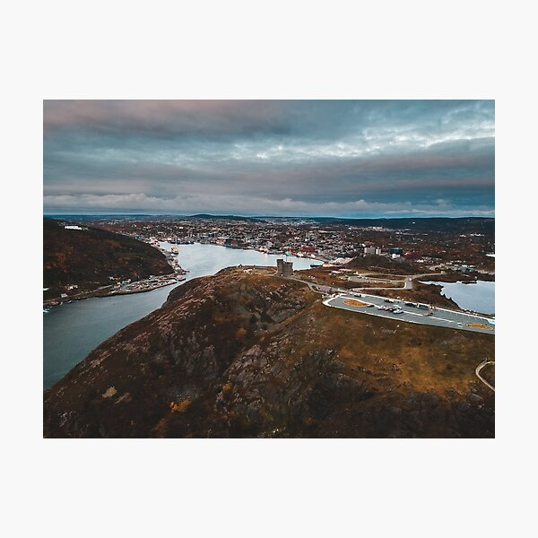 Aerial view of Signal hill in the city of St. John's, Newfoundland Photographic Print