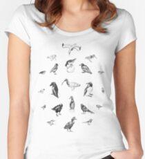 Manx Fauna - (British) Birds Women's Fitted Scoop T-Shirt