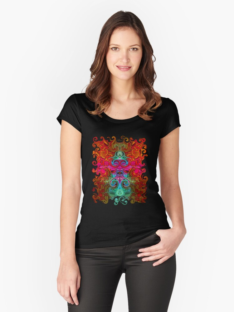The Purfled Acid Pole Women's Fitted Scoop T-Shirt Front