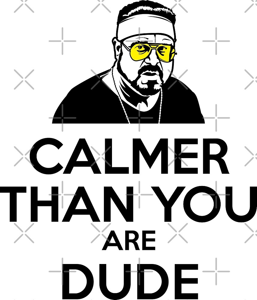 Calmer than you are Dude by ChattanoogaTee