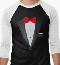 Realistic Tuxedo Shirt Men's Baseball ¾ T-Shirt