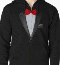 Realistic Tuxedo Shirt Zipped Hoodie