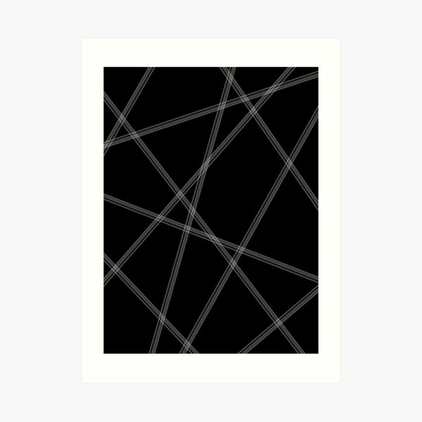 Black and White Modern Lines Art Print