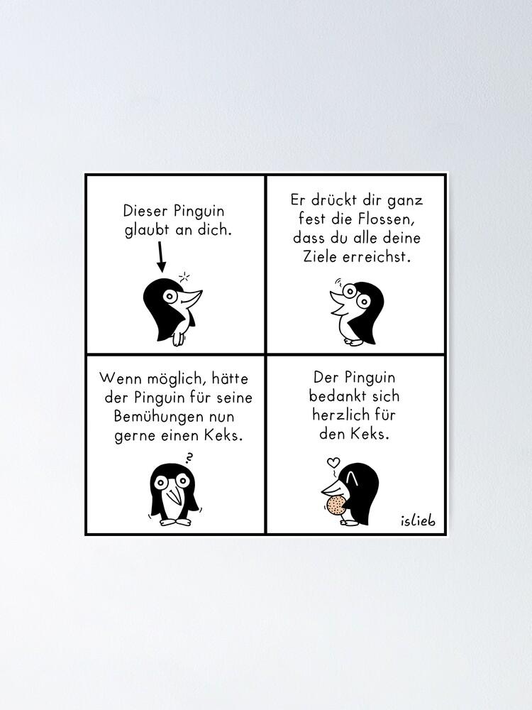 Alternative Ansicht von Motivations-Pinguin Poster