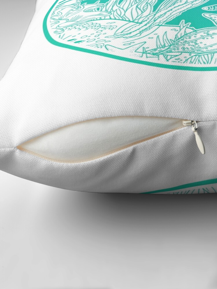 Alternate view of Save the Oceans! Throw Pillow