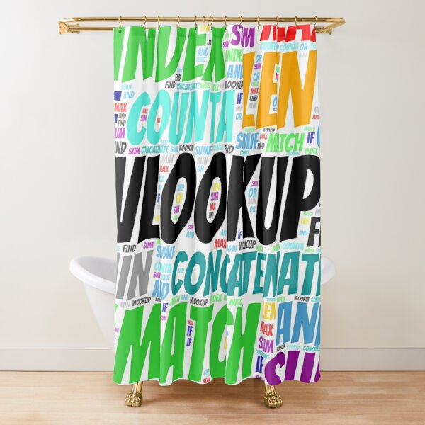 Excel Word Cloud Square  Shower Curtain