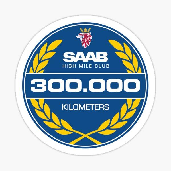 Saab 300.000 Kilometer High Mileage Club Sticker