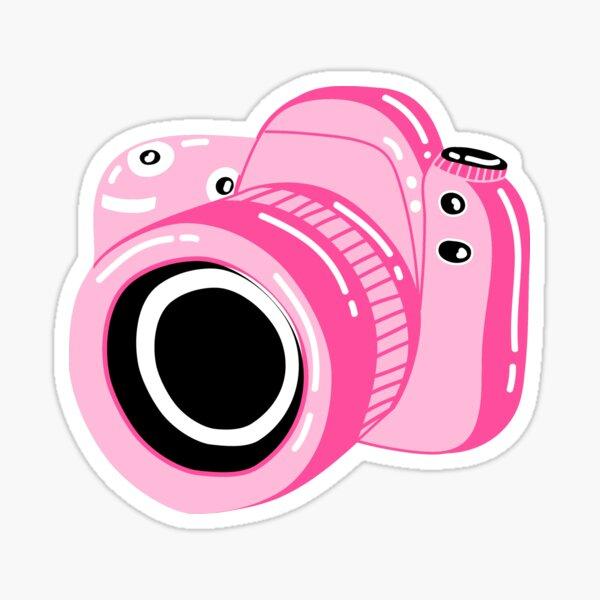 Pink Camera Sticker