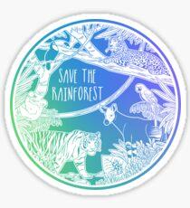 Rette den Regenwald! Sticker