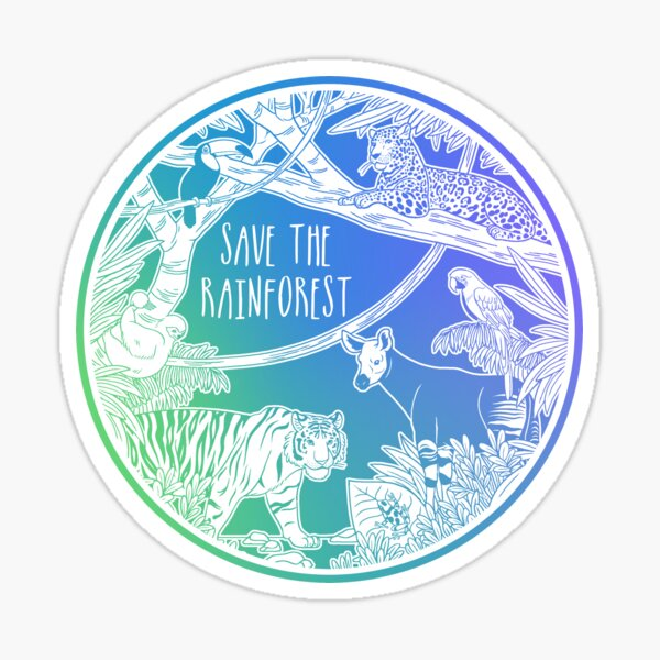 Save the Rainforest! Sticker