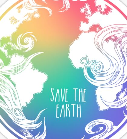 Save the Earth! Sticker