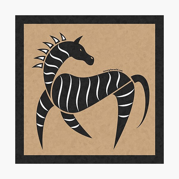 Tribal Zebra Cave Painting | Twenty Four Wild Photographic Print