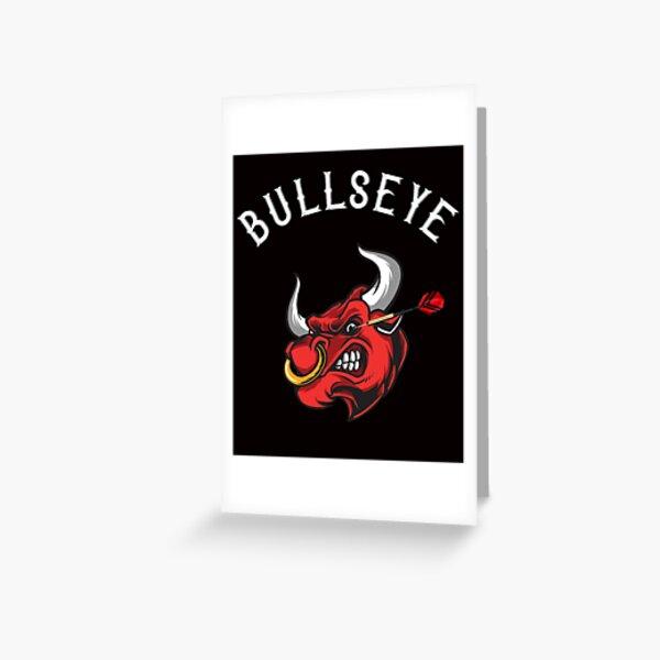 Bullseye dartfan's dart eye Greeting Card
