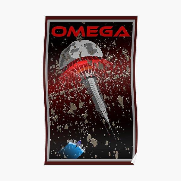 Mass Effect Omega Travel Poster Fan Art Poster