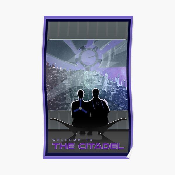 Mass Effect Citadel Travel Poster Fan Art Poster