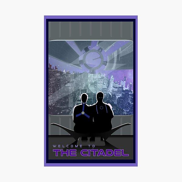 Mass Effect Citadel Travel Poster Fan Art Photographic Print