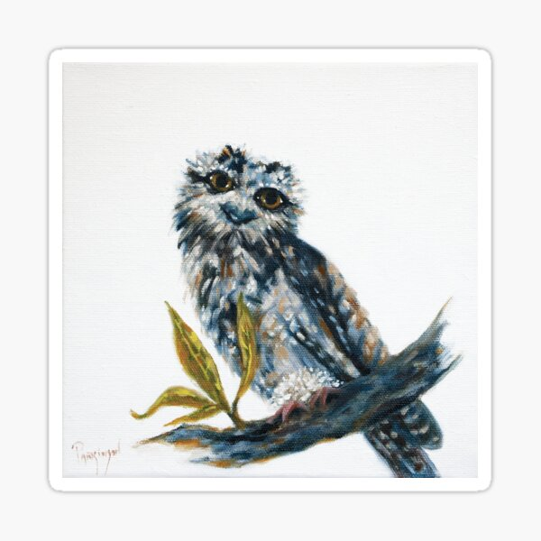 A Cute Tawny Frogmouth Chick Sticker
