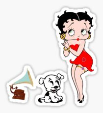 Betty and the phonographe Sticker
