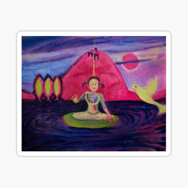 Girl Buddha Sticker