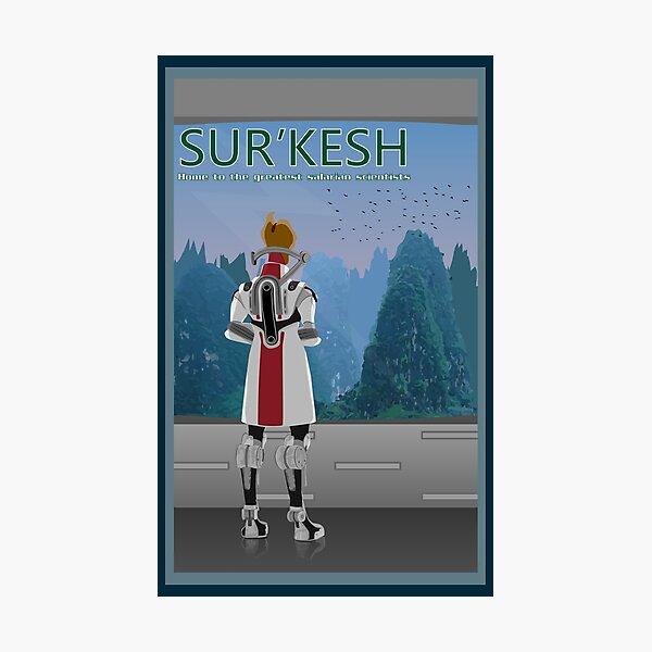 Mass Effect Sur'Kesh Travel Poster Fan Art Photographic Print