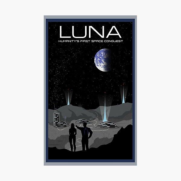 Mass Effect Luna Travel Poster Fan Art Photographic Print